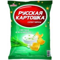 Чипсы Русская картошка сметана/зеленый лук 150г