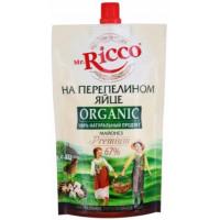 Майонез Мистер Рикко на перепелином яйце органик 67% 220мл дой-пак