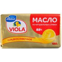 Масло Виола сладкосливочное 82% 180г