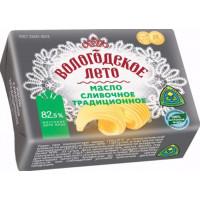 Масло Вологодское лето традиционное сладко-сливочное ГОСТ 82,5% 180г