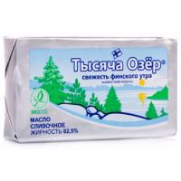 Масло Тысяча озер сливочное 82,5% 180г
