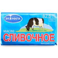 Масло Экомилк сливочное 82,5% 180г