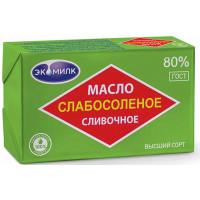 Масло Экомилк сливочное слабосоленое 80% 180г