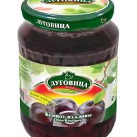 Компот Луговица из сливы Венгерка с целыми плодами 720гст/б