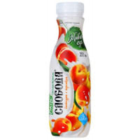 Био-йогурт Слобода питьевой персик жир.2% 290г