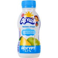 Йогурт Агуша питьевой яблоко и груша с 8мес. 2,7% 200г