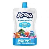 Йогурт Агуша Я сам ягодное ассорти 2,6% 85г