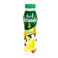 Йогурт Активиа с бифидобактериями дыня и земляника жир.2,0% 290г