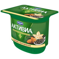 Биойогурт Активиа с бифидобактериями орехи семена чиа ваниль жир.3,1% 150г