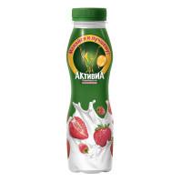 Йогурт Активиа с бифидобактериями с клубникой и земляникой 2% 290г