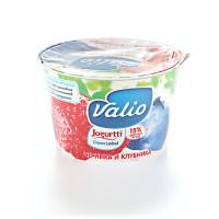 Йогурт Валио с черникой и клубникой 2,6% 180г
