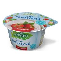 Йогурт Лукоморье Греческий клубника 7% 150г
