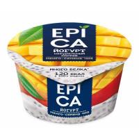 Йогурт Эпика манго-семена чиа 5% 130г