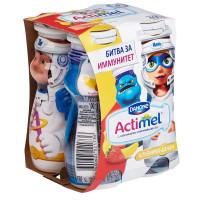 Напиток кисломолочный Актимель кидс клубника-банан 2,5% 100г