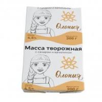 Масса творожная Олонецкий мк с сахаром и ванилином 4,5% 200г