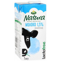 Молоко Арла натура ультрапастеризованное безлактозное 1,5% 1л