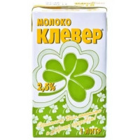 Молоко Клевер ультрапастеризованное 2,5% 1л т/п