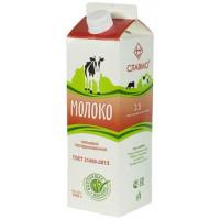 Молоко Славмо пастеризованное 3,5% 1000г