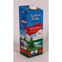 Молоко Тысяча озер ультрапастеризованное 3,2% 975мл
