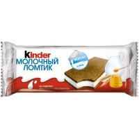 Пирожное Киндер молочный ломтик молоко и мед 28г