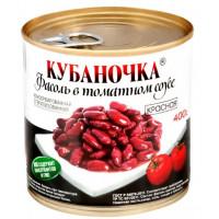 Фасоль Кубаночка красная в т/с ж/б 400г