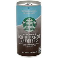 Напиток Старбакс молочный кофейный Даблшот эспрессо без сахара 2,6% 200мл ж/б
