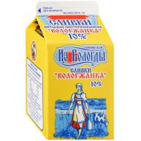 Сливки Вологжанка питьевые жир.10% 470г