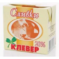 Сливки Пискаревский клевер 20% 0,5л
