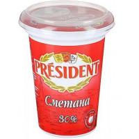 Сметана Президент 30% 350г