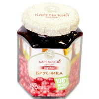 Варенье Карельский продукт домашнее из брусники 320г ст/б