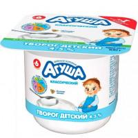 Творог Агуша молочный 4,5% 100г
