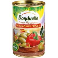 Оливки Бондюэль Мансанилья со сладким перцем 300г