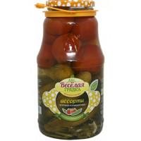 Ассорти Веселая грядка огурцы, томаты 1800г