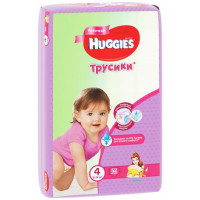 Трусики Хаггис для девочек (4) 9-14кг 52шт