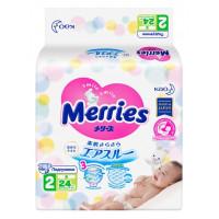 Подгузники Мерриес для детей S 4-8кг 24шт