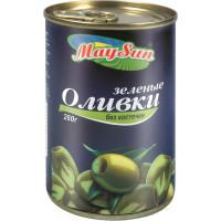 Оливки Мэй Сан зеленые без косточки 280г