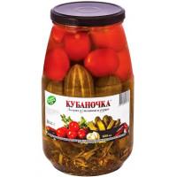 Ассорти Кубаночка томаты и огурцы 1500мл