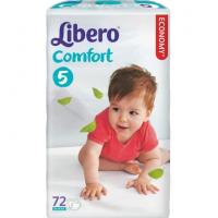Подгузники Либеро Комфорт макси+ 10-16кг 72шт