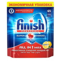 Таблетки Финиш Поверболл для посудомоечных машин лимон 65шт