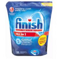 Таблетки Финиш Поверболл для посудомоечных машин с функцией защиты стекла 65шт