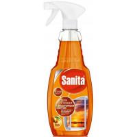 Средство для стекол Санита с нашатырным спиртом Красный апельсин 500мл спрей