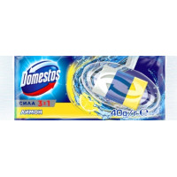 Блок Доместос Сила 3 в 1 гигиенический для унитаза лимон 40г