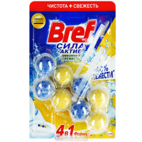 Средство Бреф чистящее для туалета лимонная свежесть 2*50г