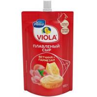 Сыр Виола плавленый с ветчиной и сыром Пармезан 45% 180г дой-пак