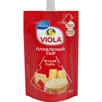 Сыр Виола плавленый четыре сыра 45% 180г дой-пак