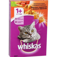 Корм для кошек Вискас подушечки говядина/кролик с паштетом 350г