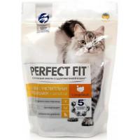 Корм для кошек Перфект Фит для чувствительных с индейкой 1200г