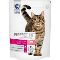 Корм для кошек Перфект Фит с говядиной для взрослых кошек 650г