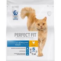 Корм для кошек Перфект Фит с курицей для домашних кошек 1,2кг