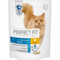 Корм для кошек Перфект Фит с курицей для домашних кошек 190г